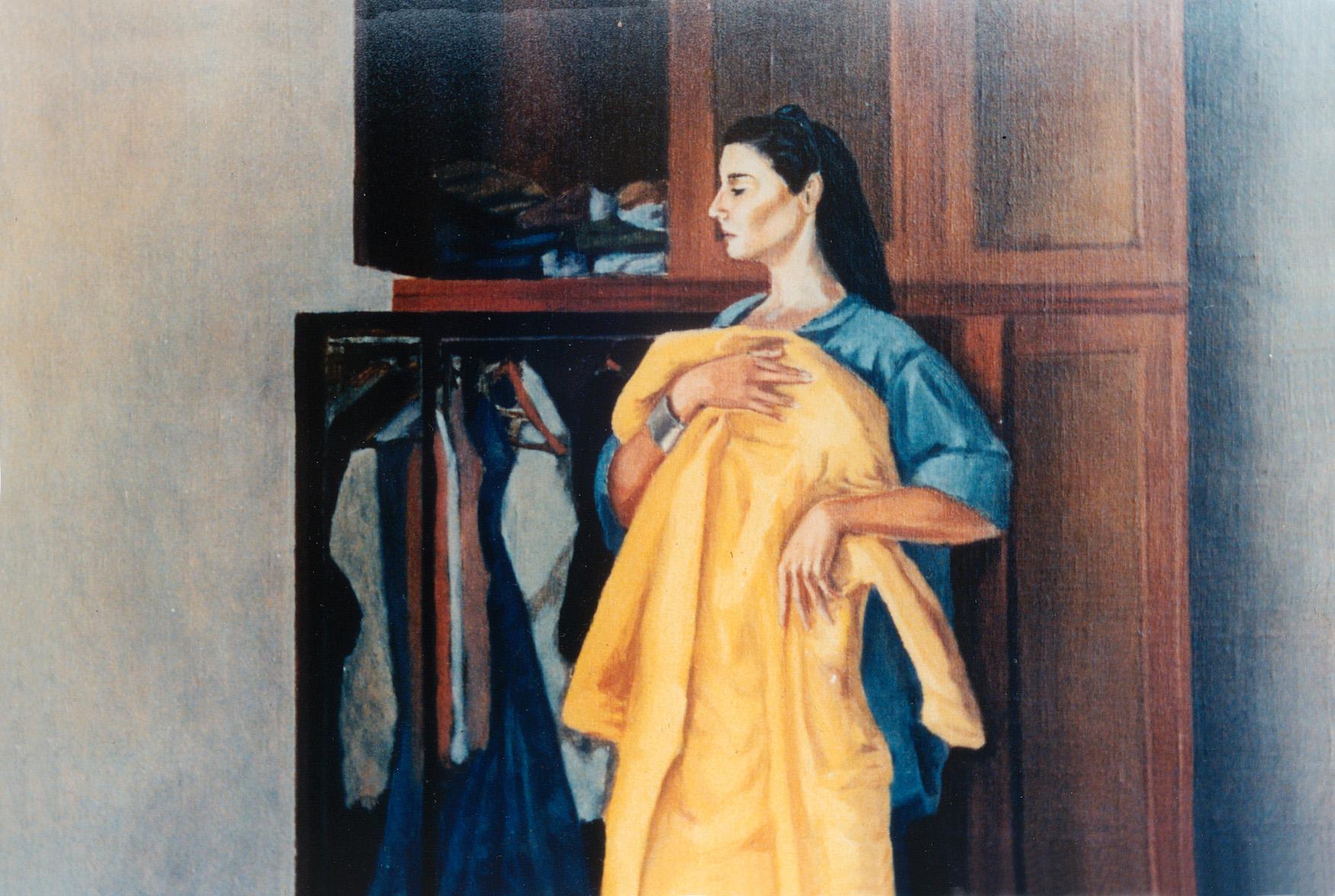 1988 ca Mercedina allo specchio