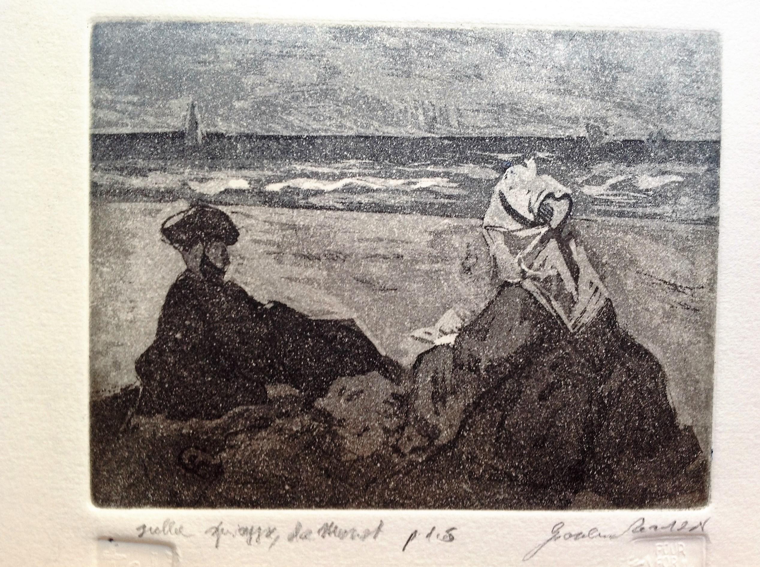 Sulla spiaggia, da Manet