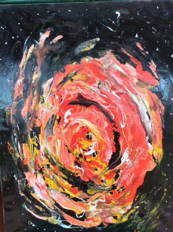 Esplosione di una meteora nello spazio